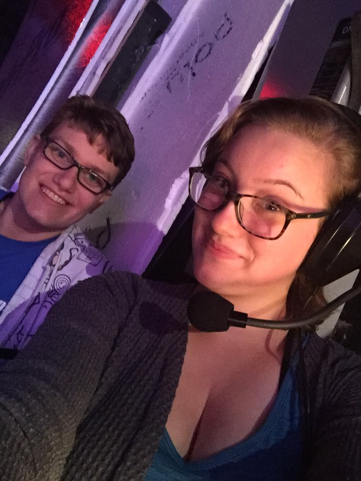 Christina and ITW stage crew member, Zach!
